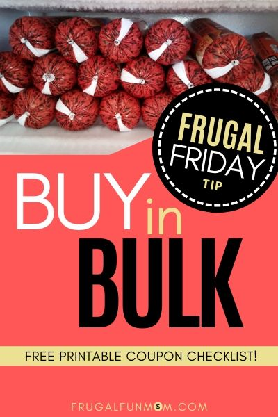 Buy In Bulk - Frugal Friday Tip #8   Frugal Fun Mom