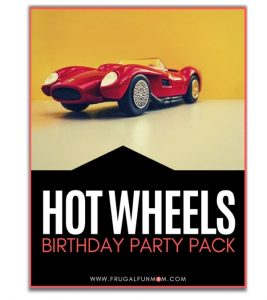 Hot Wheels Birthday Party Pack | Frugal Fun Mom