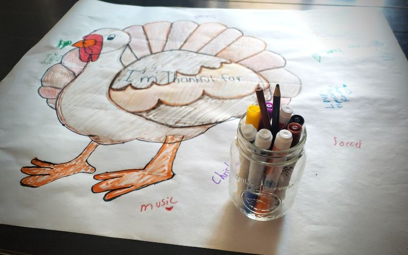 Thankful Turkey Tablecloth – Thanksgiving Craft